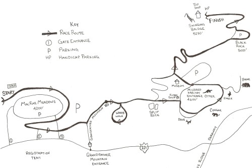 Grandfather Mountain Critter Crawl Route (click for larger version)