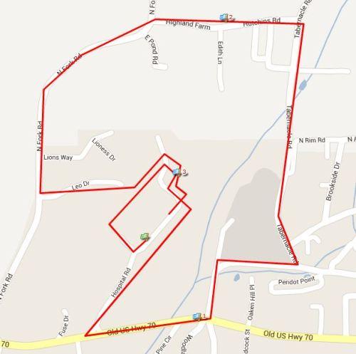 Mountain Splendor 5k Course Map
