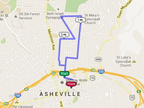 2013 Turkey Trot Course Map - Click for Interactive Version