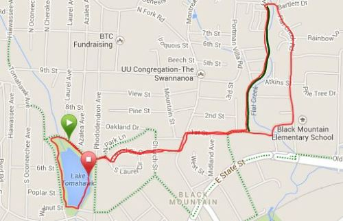 Valentine 5k Course (from my Garmin - click to access details)