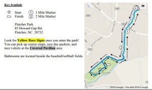 Joy to the World 5k Course Map (click on image to view larger)