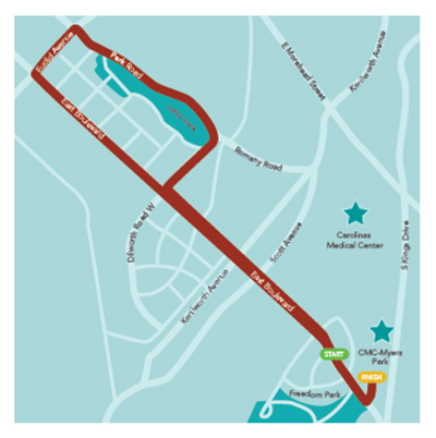 Cupids Cup 5k Course Map