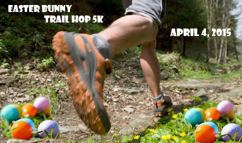 Results of the Easter Bunny Hopt 5k Trail Race April 4 2015 Greenville SC