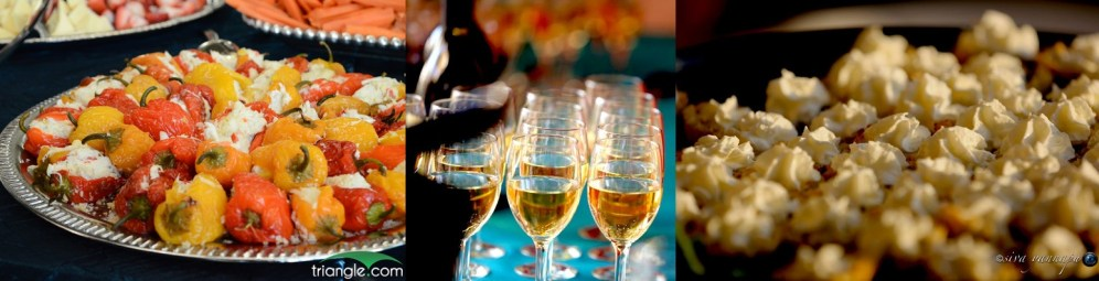 Guests enjoyed open bar and complimentary hors d'oeuvres provided by the Triangle's restaurateurs.