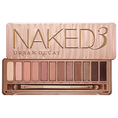 URBAN DECAY Naked3 $52.00 Photo Credit: Sephora.com