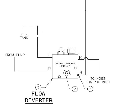 Pioneer HR2055-12 Flow Diverter for Hi-Roller Tarping