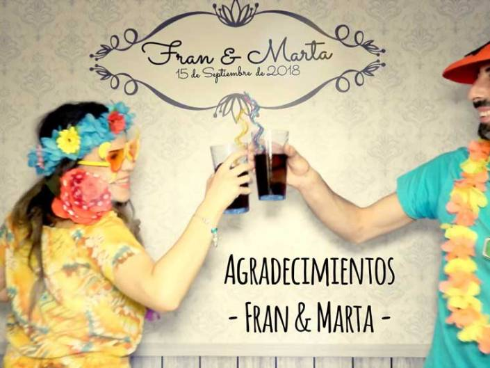 Agradecimientos Fran & Marta