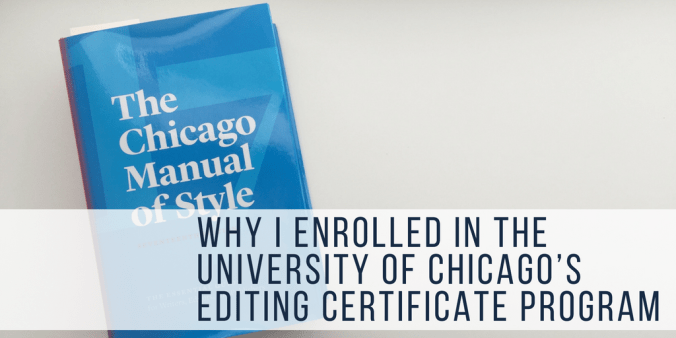 university of chicago's editing certificate