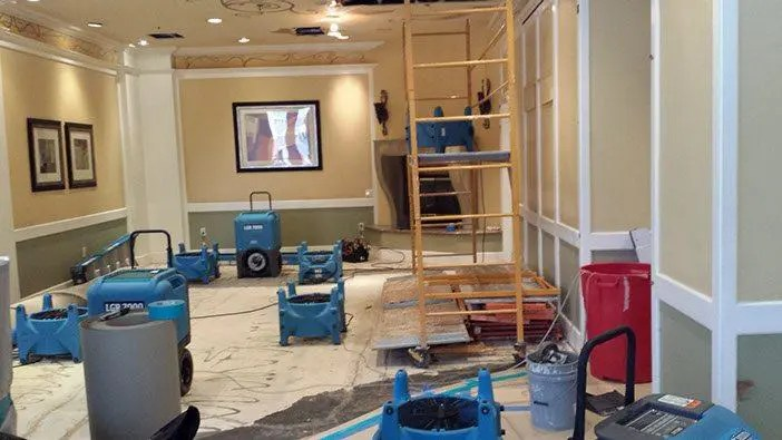 Commercial water damage repairs in Holly Springs NC