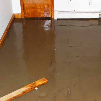 basement water damage cleanup in Garner NC
