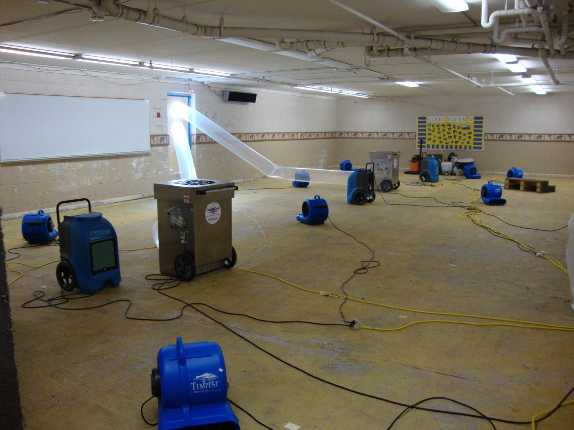 Basement Flood Cleanup, Repair, & Restoration in Holly Springs, NC 2