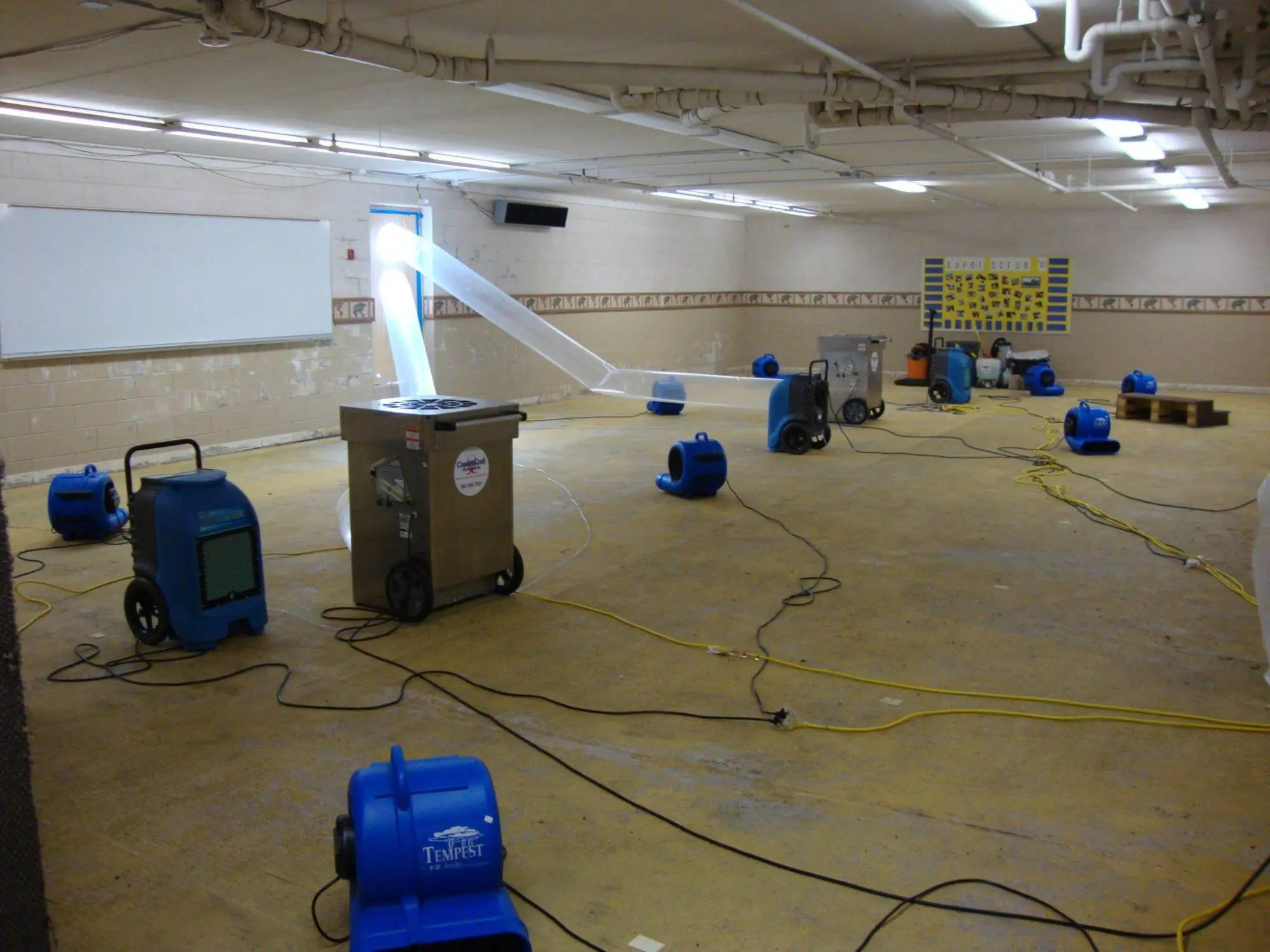 Basement Water Damage Cleanup in Chapel Hill, NC