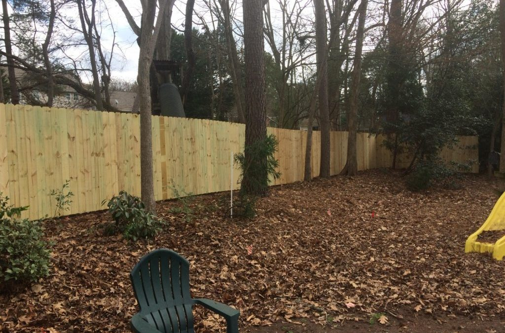 Privacy Fence Install in Lake Norman