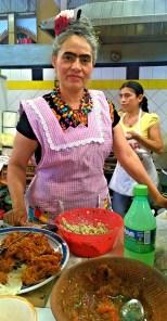 Frida Kahlo served us lunch in Ocatlan