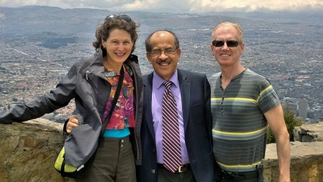 With Carlos, one of our wonderful hosts in Bogota