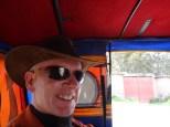 Bill designing in his head his mototaxi for Burning Man.