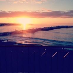 Sunset over Santa Cruz
