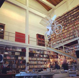 Flying bike bookshop