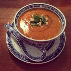 Delicious tomato soup at The Food Temple