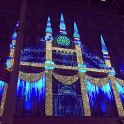 Light show at Saks 5th Ave.