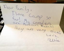 Letters from camp.