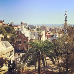 Views of Barcelona from Park Guell.