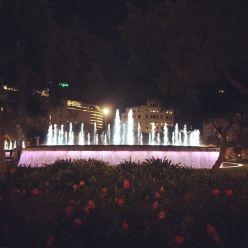 Catalonia Sq. at night