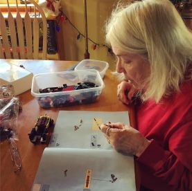 Even Mom got in on the LEGO action.