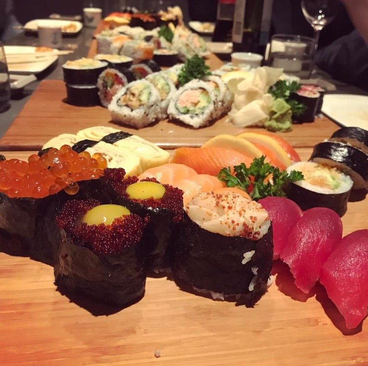 So much sushi. We powered through it.