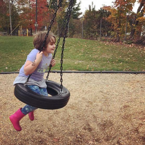 Tire swingin'.