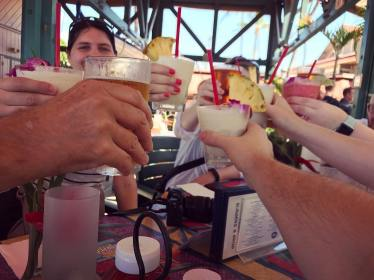 Cheers! (Photo by Jeff)