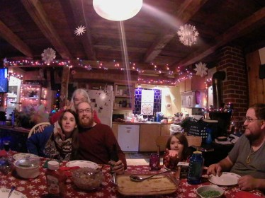 Cube+ shot from the hip family portraits over Christmas dinner.