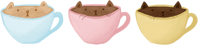 cat cup illustration