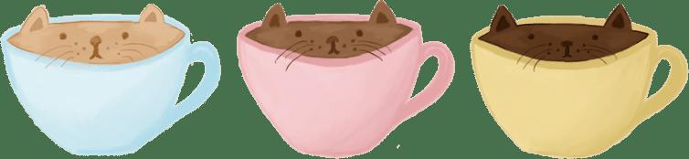 cat cup illustration