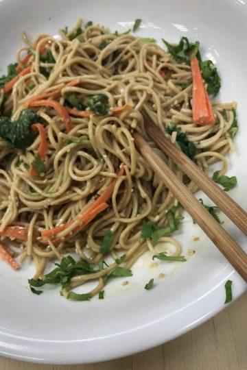 Sesame Buckwheat Noodles