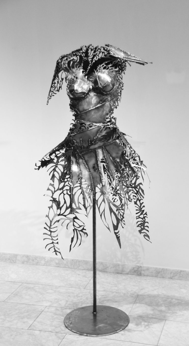 Dress Caroline Brisset Sculpture Metal