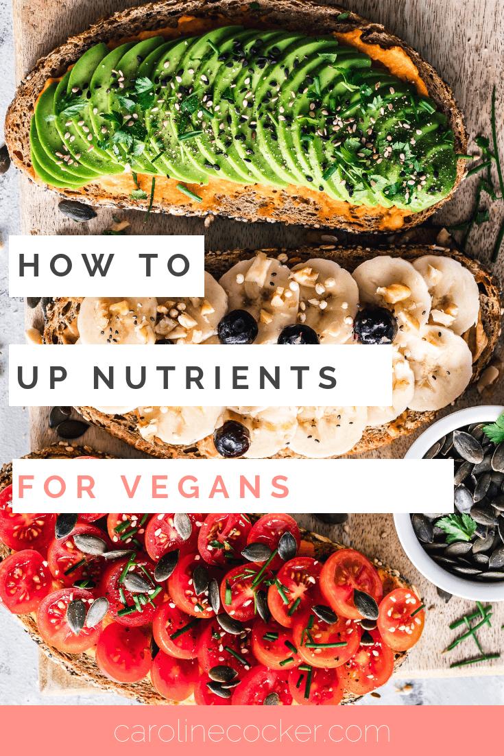 increase nutrients in a vegan diet
