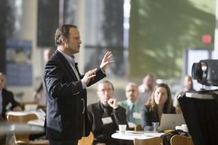 Public speaking man