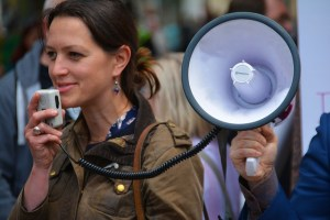 Public speaking woman