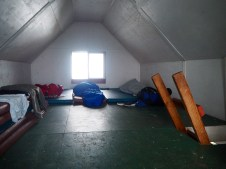 Sleeping loft at Mt. Steele cabin