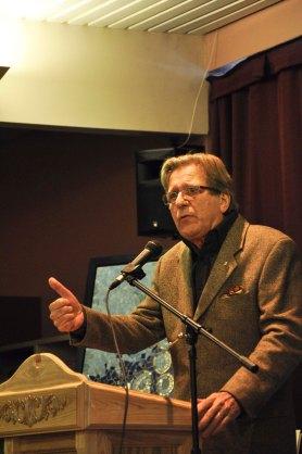Conférence d'Albert Millaire lors du vernissage de l'Internation'Art 2011