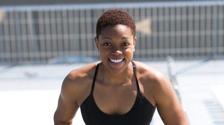 woman athlete smiling
