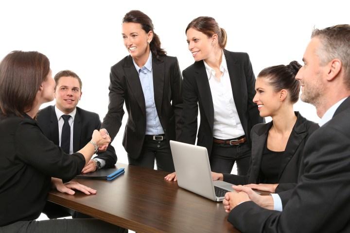confident meeting