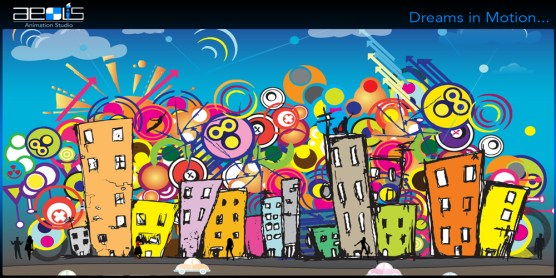 colourful_city_network_illustration