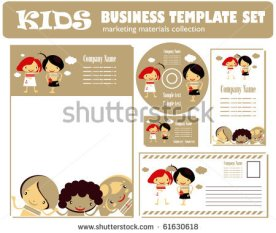 stock-vector-kids-business-template-set-kids-style-corporate-template-61630618