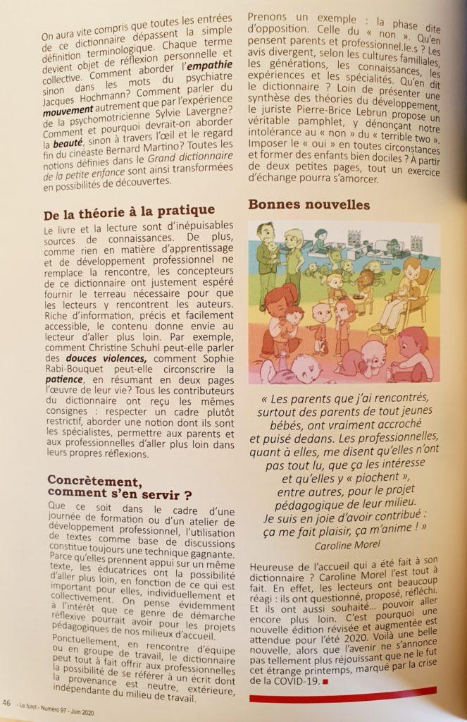 Le Grand Dictionnaire De La Petite Enfance : grand, dictionnaire, petite, enfance, Presse, Médias, Caroline, Morel, Conférencière, Consultante, Petite, Enfance