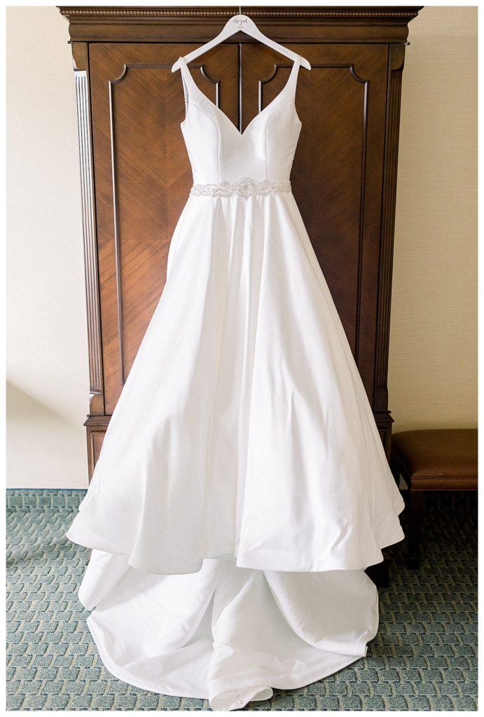 wedding dress at the Penn Oaks Gold Club