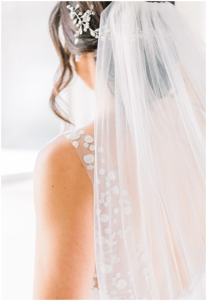 lace detailing on wedding dress at Park Chateau in New Jersey