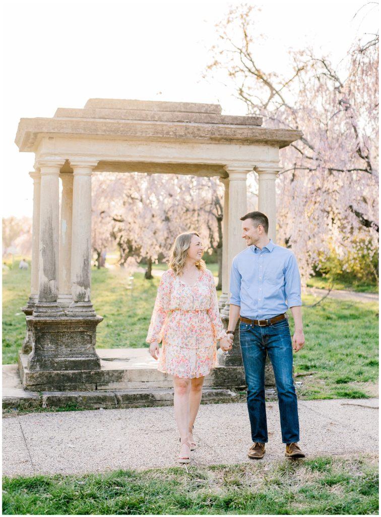 Fairmount Park Cherry Blossom Engagement