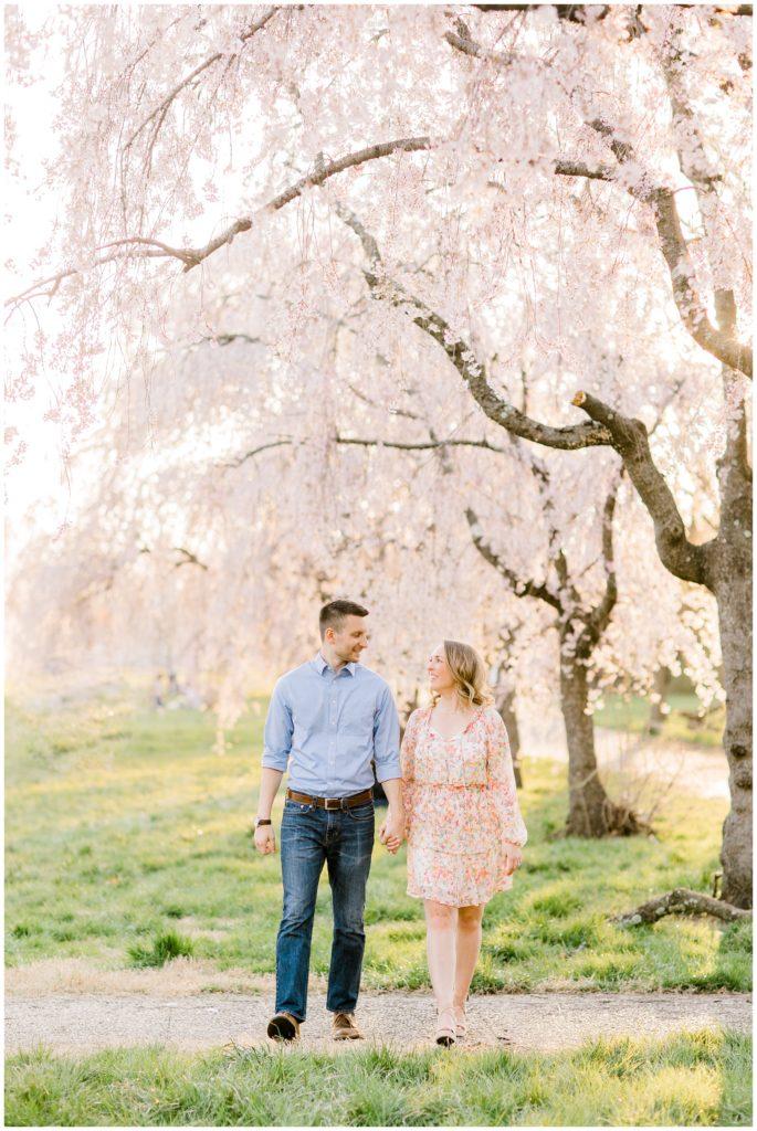 Fairmount Park Cherry Blossom Engagement   Caroline Morris Photography